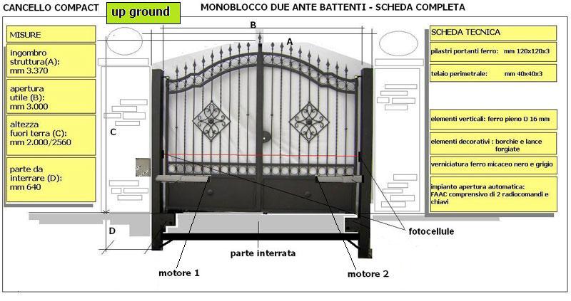 Cancello A Due Ante Battenti.Cancello Compact Easy Top Monoblocco Due Ante Battenti Olindo